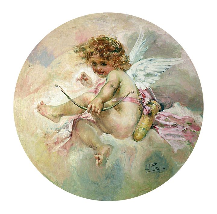 Ignacio Pinazo Camarlench~Cupid - Classical art