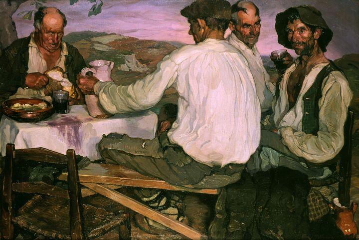 Ignacio Zuloaga~Spanish farmers - Classical art