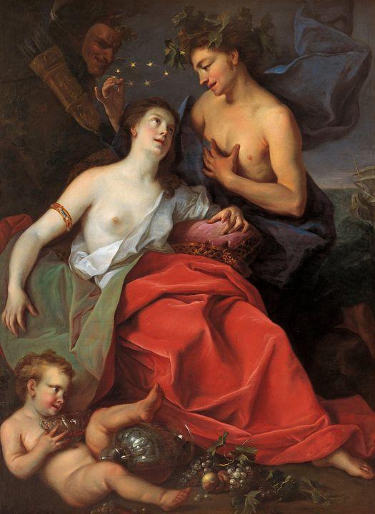 Ignazio Stern~Bacchus and Ariadne - Classical art