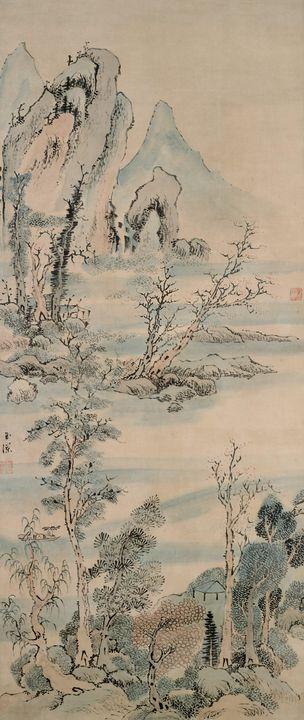 Ike Gyokuran~Quiet Pleasure near a V - Classical art