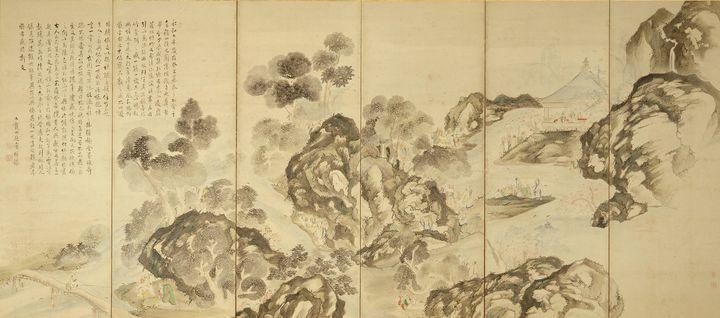 Ike no Taiga~Long-shan Gathering,Lan - Classical art