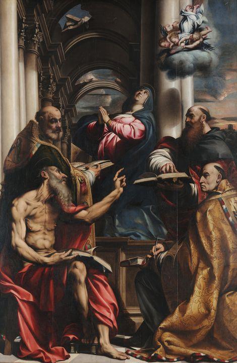 Il Pordenone~Disputation of the Imma - Classical art