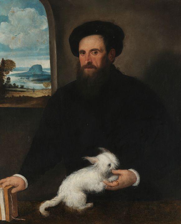 Il Pordenone~Portrait of a young man - Classical art