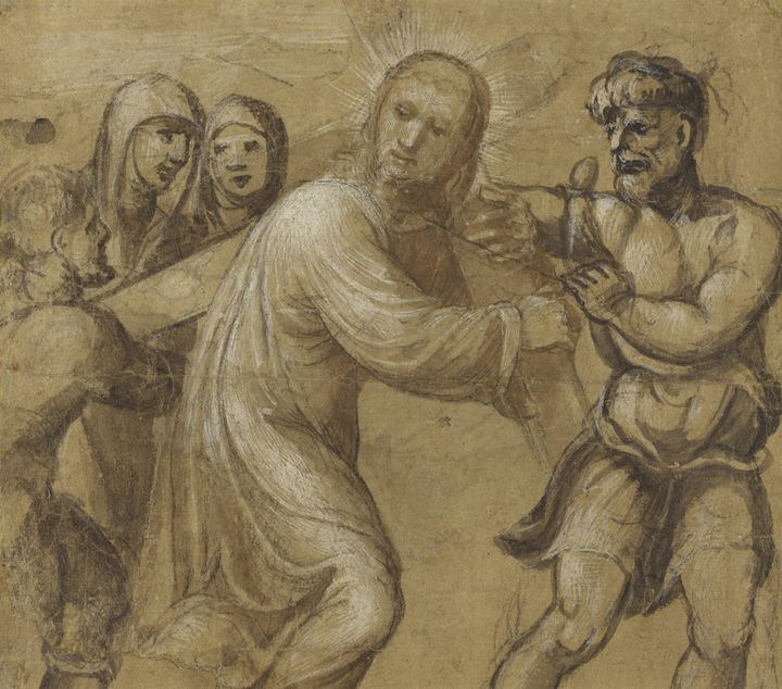 Il Sodoma~Christ Carrying the Cross - Classical art