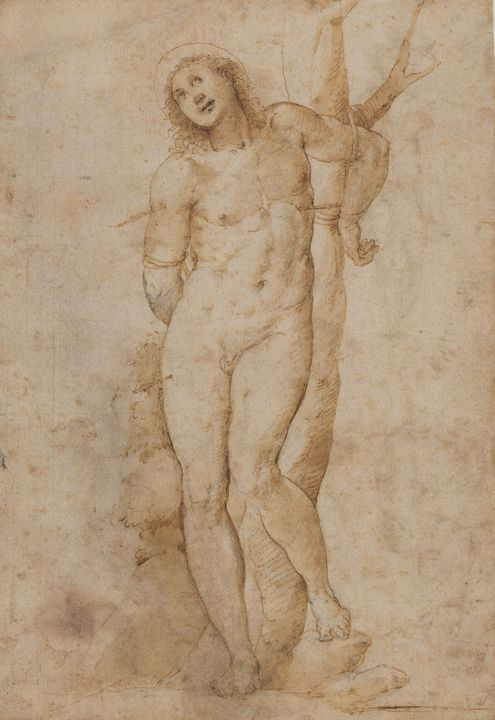 Il Sodoma~Saint Sebastian (recto); s - Classical art