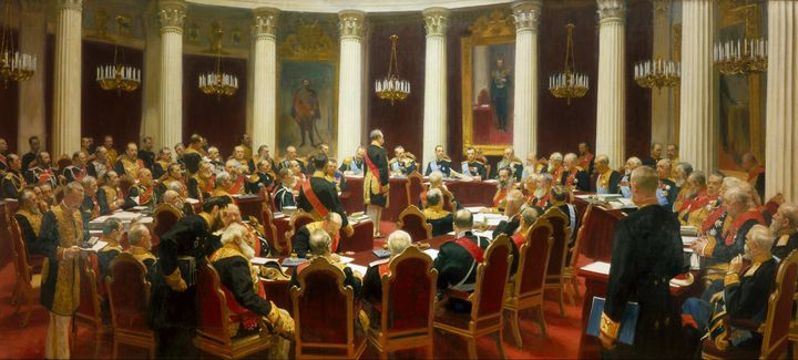 Ilya Repin~Ceremonial Sitting of the - Classical art