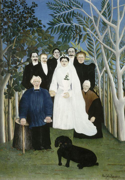 Henri Rousseau~The Wedding Party - Classical art
