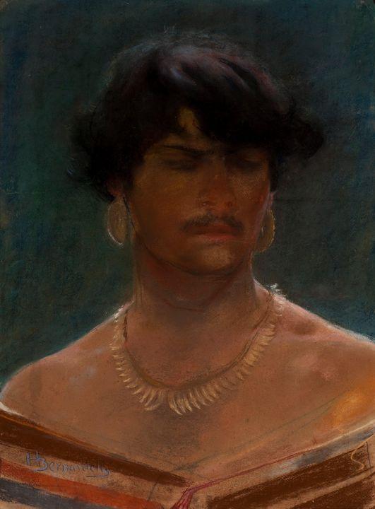 Henrique Bernardelli~Cabeça de Índio - Classical art