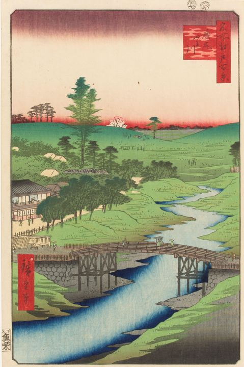 Hiroshige~One Hundred Famous Views o - Classical art