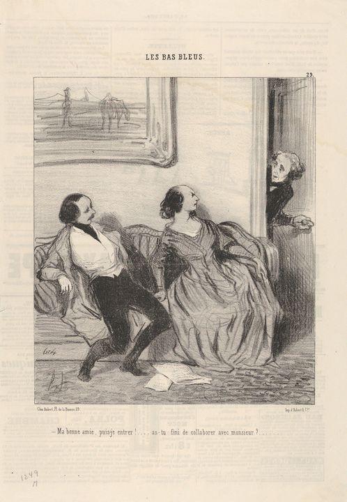 Honoré Daumier~Ma bonne amie, puis-j - Classical art