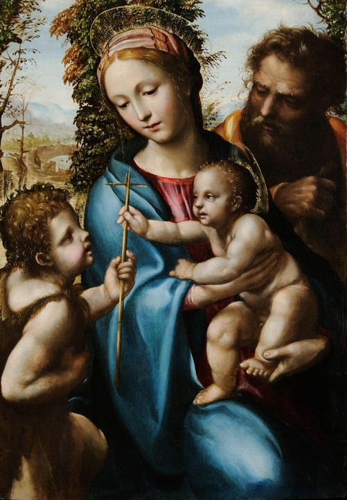 Il Sodoma~Holy Family with young Sai - Classical art