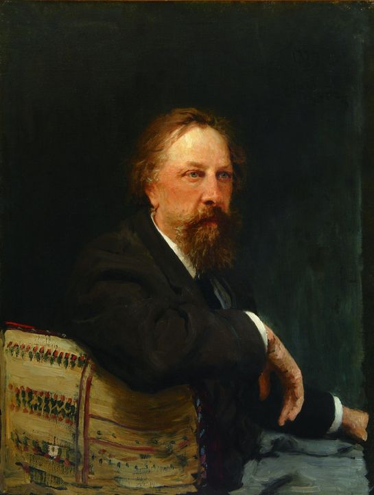 Ilya Repin~Portrait of A.K Tolstoy - Classical art