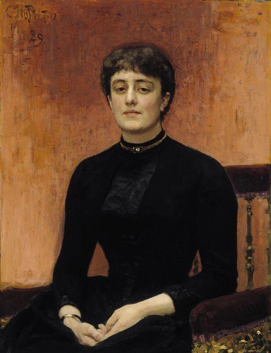 Ilya Repin~Portrait of Jelizaveta Zv - Classical art
