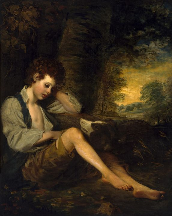 In the manner of John Opie~A Shepher - Classical art