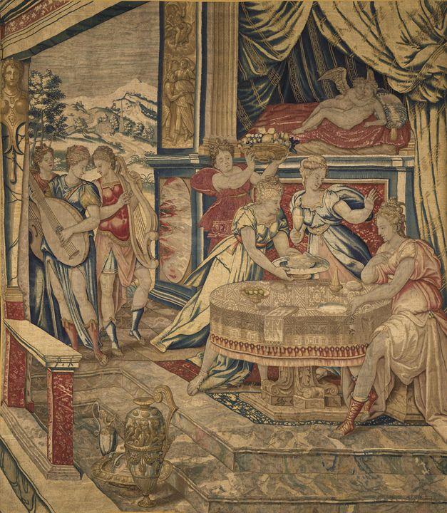 Inconnu~Le repas de Psyché dans le p - Classical art