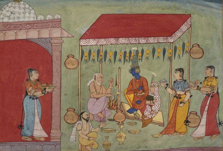 Indian (Bikaner)~The Marriage of Kri - Classical art