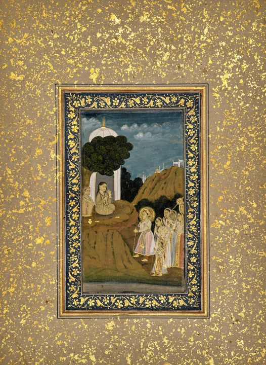 Indian~A Prince and His Entourage Vi - Classical art