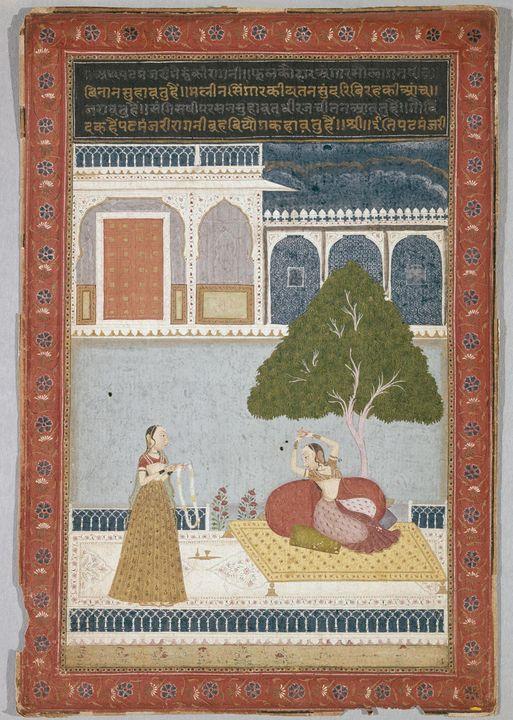 Indian~Desvarati Ragini - Classical art