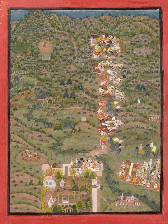 Indian~Maharana Sangram II visiting - Classical art