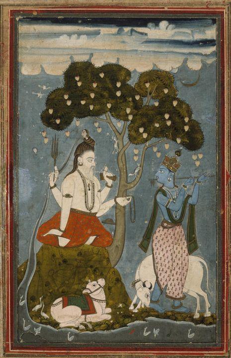 Indian~Shiva and Krishna - Classical art