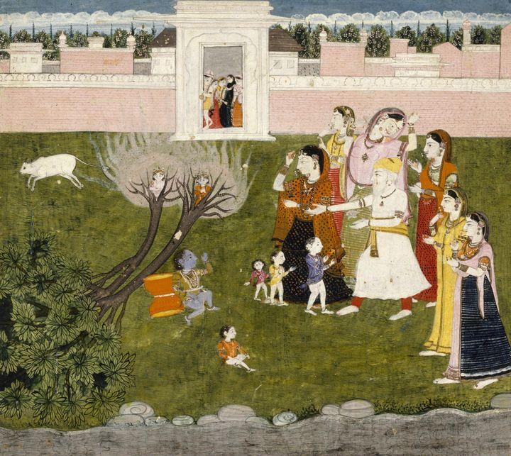 Indian~Untitled (Story of Krishna) - Classical art