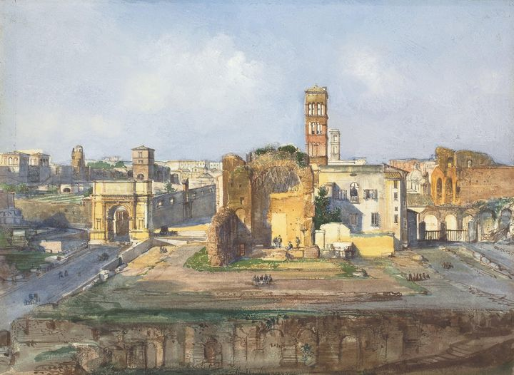 Ippolito Caffi~The Arch of Titus and - Classical art