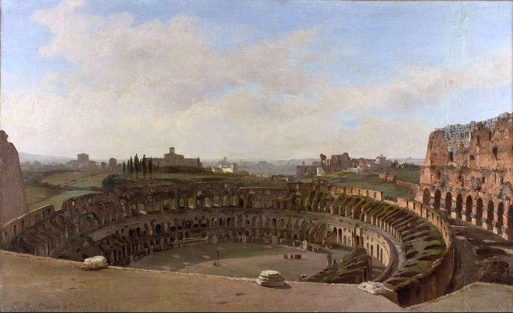 Ippolito Caffi~The Colosseum as seen - Classical art