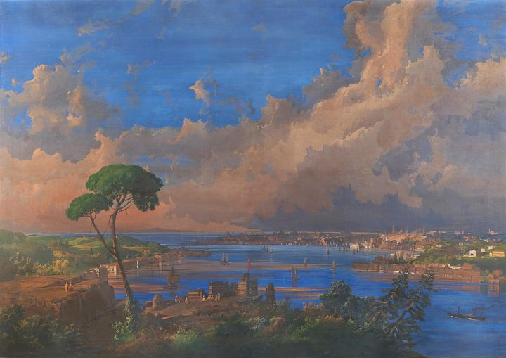 Ippolito Caffi~View of Istanbul - Classical art