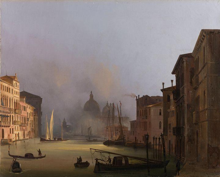 Ippolito Caffi~View of the Santa Mar - Classical art