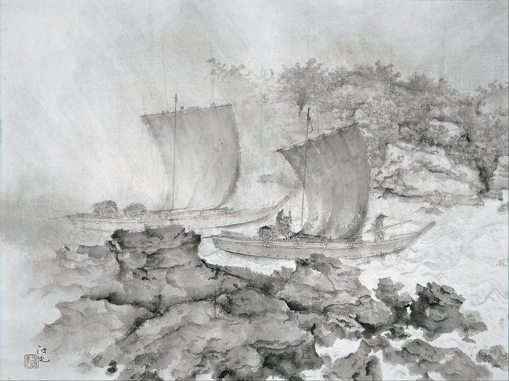 Irie Hakō~Returning Boats - Classical art