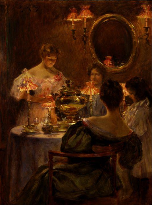Irving Ramsey Wiles~Russian Tea - Classical art