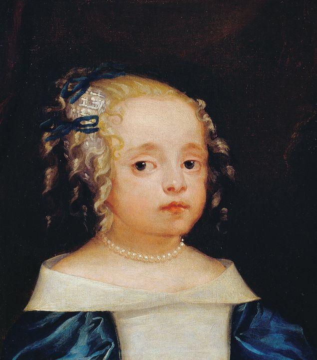 Isaac Fuller~Head of a Girl - Classical art