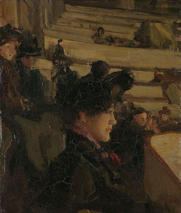 Isaac Israëls~At the Theatre - Classical art
