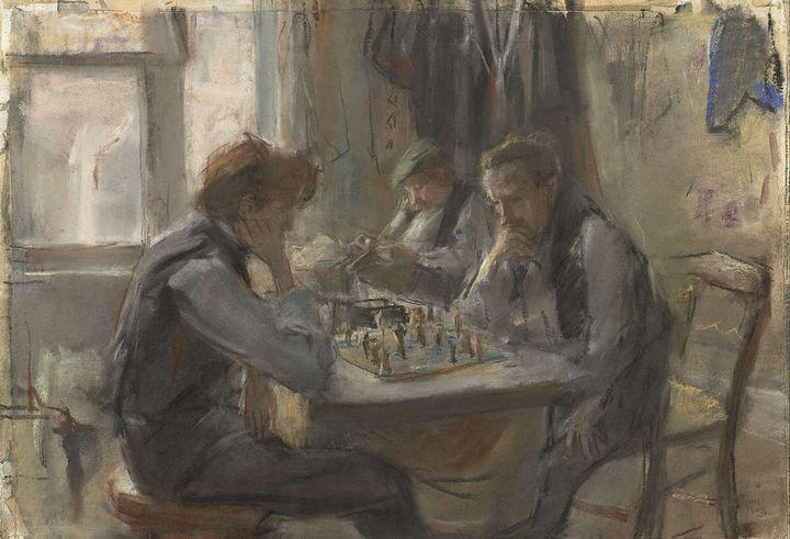 Isaac Israëls~De schaakspelers - Classical art