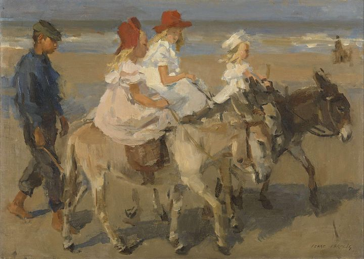 Isaac Israëls~Donkey Rides on the Be - Classical art