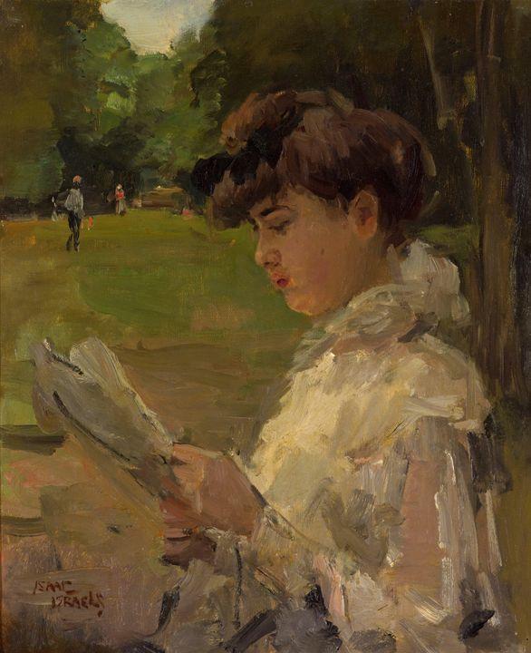 Isaac Israëls~Girl reading - Classical art
