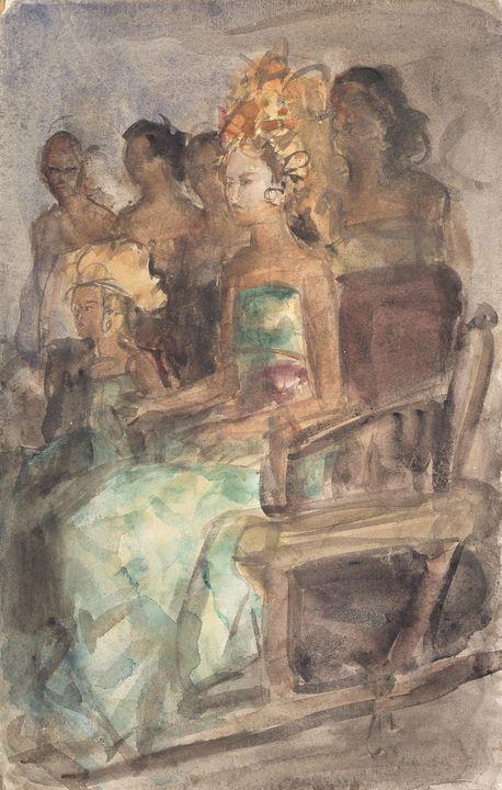 Isaac Israëls~Indonesian princess - Classical art
