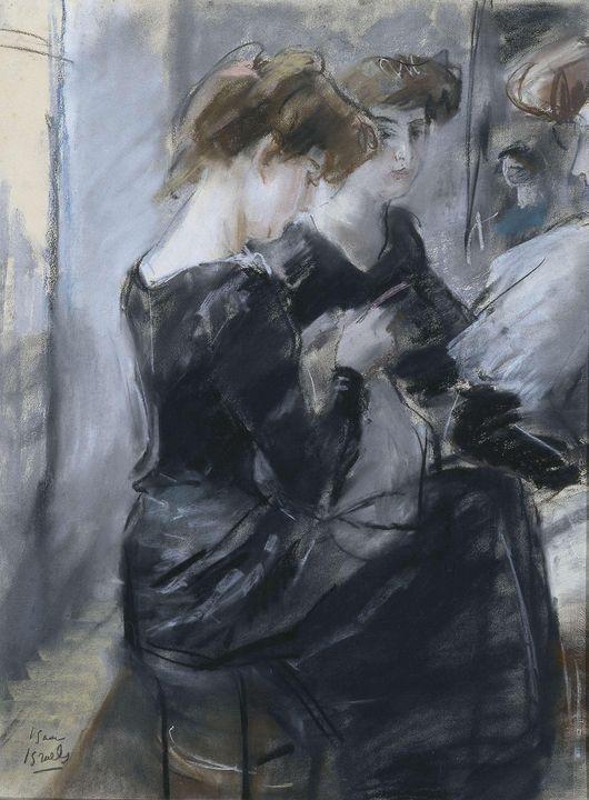 Isaac Israëls~Modistenatelier - Classical art