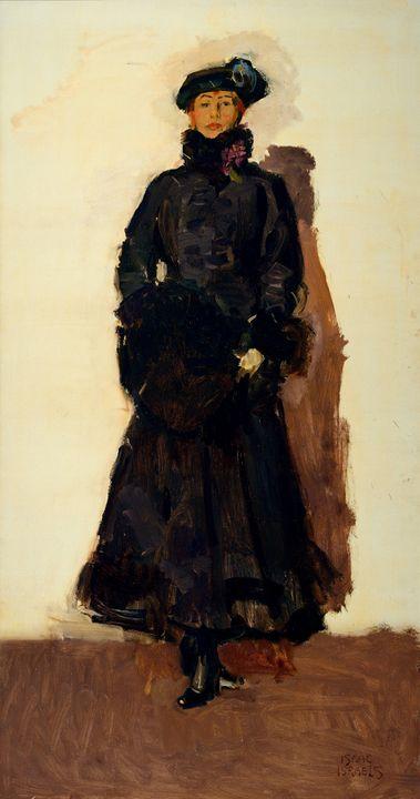 Isaac Israëls~Portrait of Mata Hari - Classical art