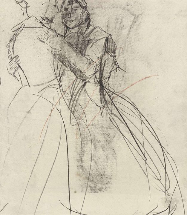 Isaac Israëls~Twee dansende vrouwen - Classical art