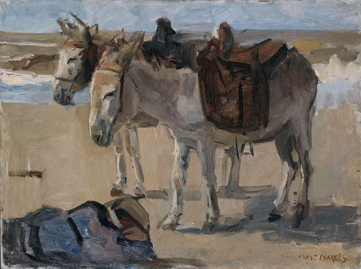 Isaac Israëls~Two Donkeys - Classical art