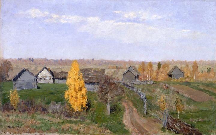 Isaac Levitan~Golden autumn. Slobodk - Classical art