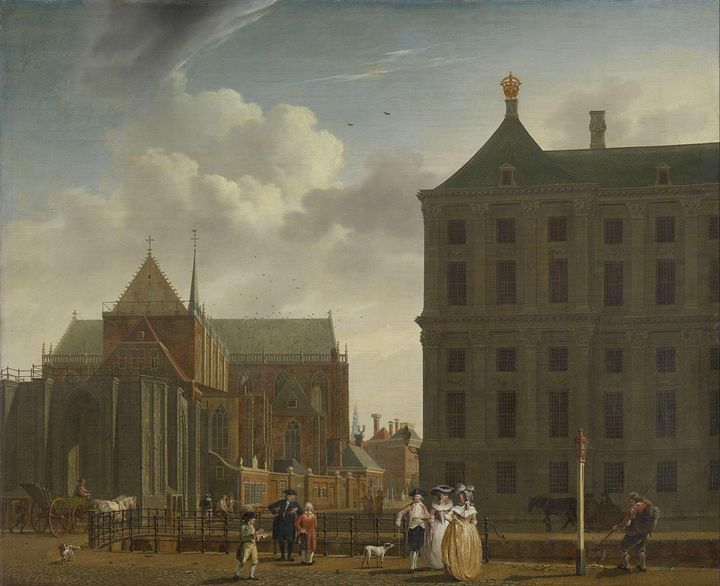 Isaac Ouwater~The Nieuwe Kerk and th - Classical art