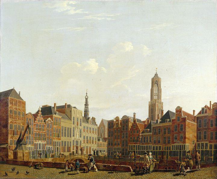 Isaac Ouwater~Utrecht Town Hall Brid - Classical art