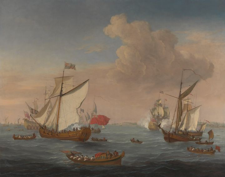 Isaac Sailmaker~Ships in the Thames - Classical art