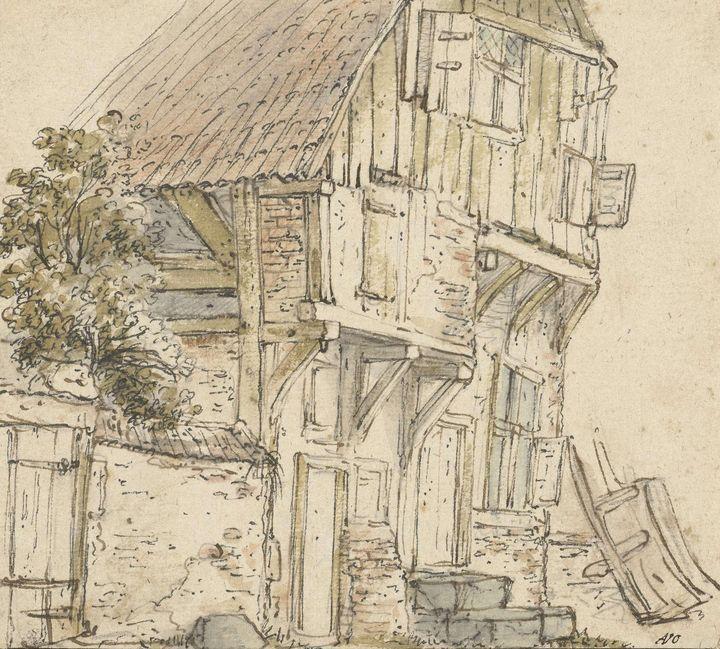 Isaac van Ostade~Boerenhuis - Classical art