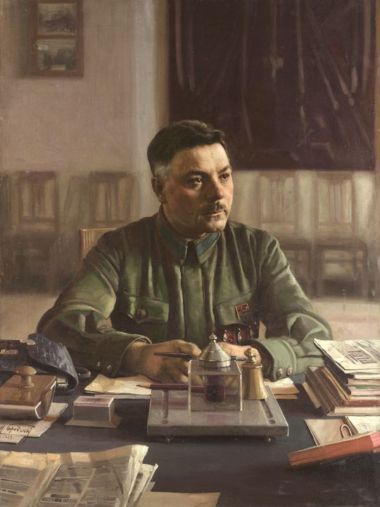 Isaak I. Brodsky (1883-1939)~Portrai - Classical art