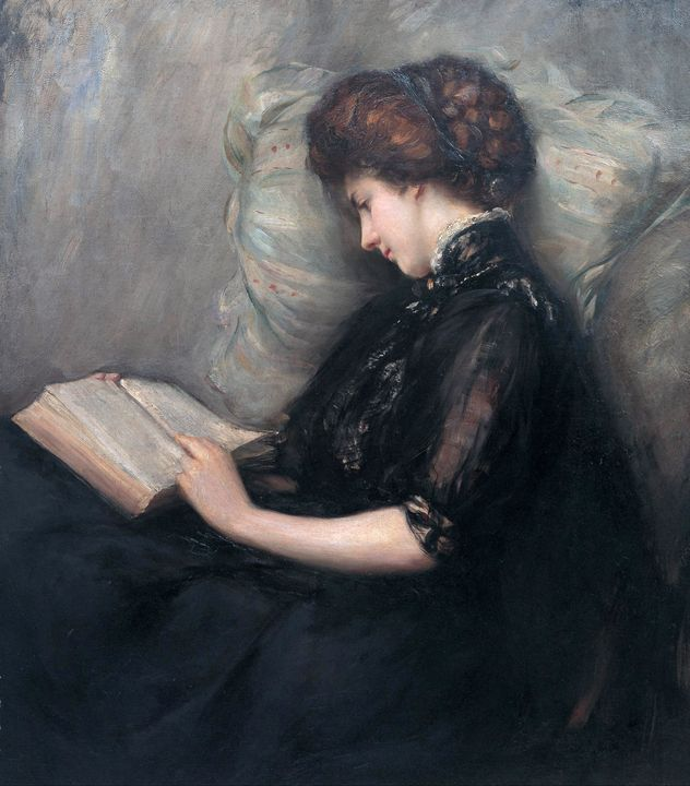 Ishibashi Kazunori~Lady Reading Poet - Classical art