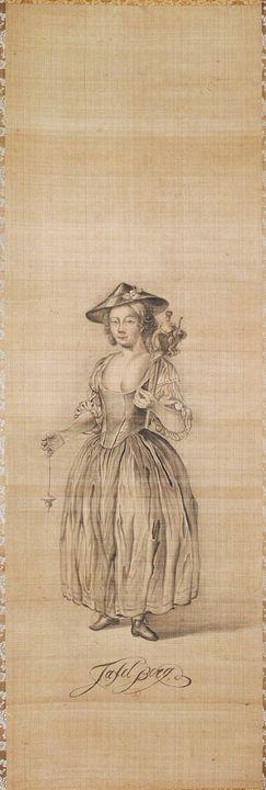 Ishikawa Tairō~Dutch Lady - Classical art