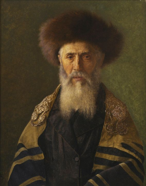 Isidor Kaufmann~Head of a Rabbi - Classical art